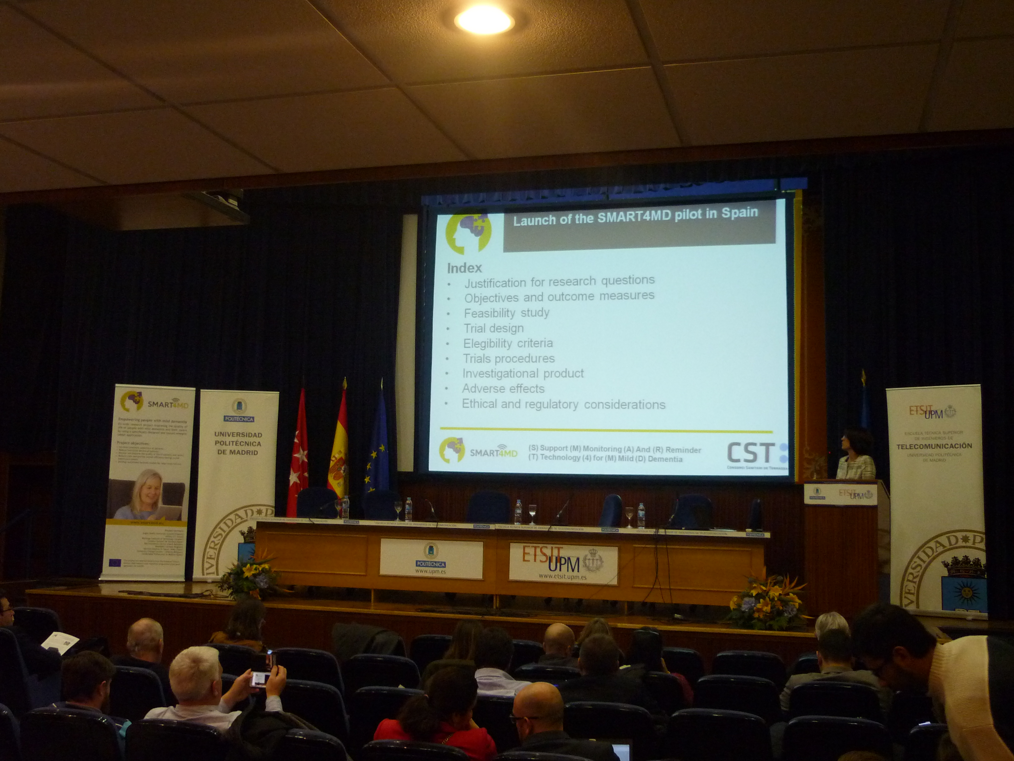 International conference in Madrid introduced a tablet application SMART4MD for people with mild dementia
